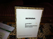 Bernina 830 and 831 Service Manual