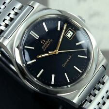 VINTAGE MEN'S OMEGA GENEVE AUTOMATIC CAL 1012 DATE ANALOG DRESS WATCH ST. STEEL