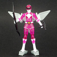 "Power Rangers Dino Fly Translucent PINK RANGER 4"" Action Figure MMPR Bandai 2010"