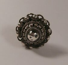 Antique Filigreed Silver Hatpin Hat Pin from an 18thC Zeeland Button