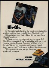 1977 FOTOMAT One-Day Drive-Up Film Procesing Kiosk - Retro 1970's - VINTAGE AD