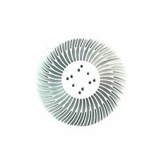 5pcs 90x10mm Round Spiral Aluminum Alloy Heat Sink for 1W-10W LED Silver White