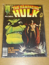 INCREDIBLE HULK RAMPAGING #5 1977 OCT FN MAGAZINE MANAGEMENT US MAG