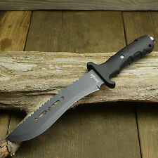"12 1/4"" Tactical Combat Survival Rambo Fixed Blade Bowie Knife With Sheath New!"