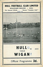Hull v Wigan Challenge Cup 3rd Round 19 Mar 1960 RUGBY LEAGUE PROGRAMME