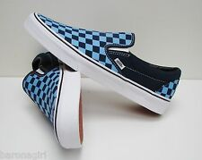 Vans Classic Slip On Golden Coast Dress Blue Checker VN-000ZMRFFH Mens Size 10.5