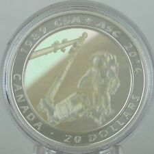Canada 2014 $20 Canadian Space Agency 25th Anniversary 1 oz. Pure Silver Proof