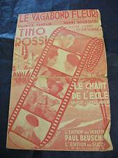 Partition Le vagabond Fleuri Tino Rossi 1943 Film Le chant de l'Exilé