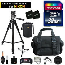 32GB ACCESSORIES Kit for Nikon D610 w/ 32GB Memory + Large Case + MORE