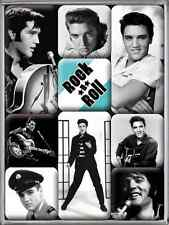 Retro 9 pc Magnet Set 'ELVIS PRESLEY' Classic Images 'The King' Rock 'n' Roll