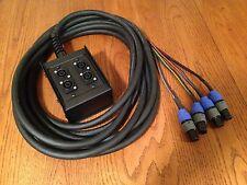 25' Speakon Speaker Snake 8 conductor 4 channel Neutrik NL2 w/ Stage Box to Fan