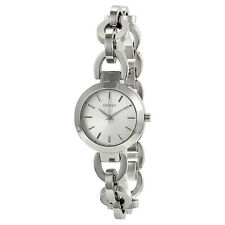 NWT DKNY Womens Watch All Silver Stainless Steel Chain STANHOPE W/Box NY2133