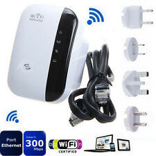 300Mbps Wifi Repeater Wireless-N AP Range Signal Extender Booster US EU AU UK