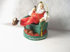 2005 Coca Cola Santa Ornament (sitting in chair with fawn at feet)