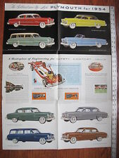 1955  Plymouth Belvedere Savoy Plaza  Brochure Literature Advertising Poster