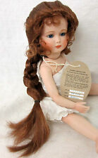 "PLAYHOUSE Doll Wig ""SKYLER"" Size 10-11 AUBURN - Long French Braid & Tendrils"