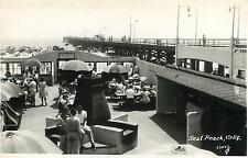 RPPC  SEAL BEACH, California  CA   Crowd at PIER  Orange County  c1940s Postcard