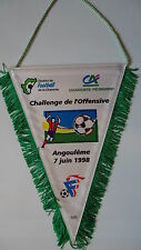 Wimpel Pennant Destrict de Football de la Charente France 1998 # 18 x 28 cm