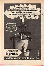 Pubblicità Advertising 1973 Pentola a pressione VALCO
