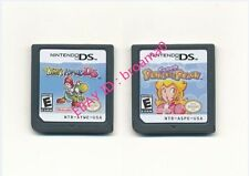 2PCS Nintendo Yoshi's Island + Super Princess Peach Game Card for 3DS DSI NDS