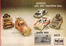 Pubblicità Advertising Polistil 1977 Fiat-Citroen-Volvo-Lancia