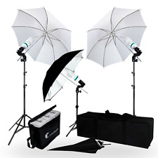 Studio Lighting Kit Portrait Photography Umbrella Camera Light Stand Carry Bag