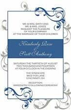 Wedding Invitations Swirls Personalized - 50 Invitations & RSVP Cards Any Colors
