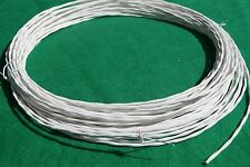 50 Ft 20 AWG Shielded Silver Plated PTFE Wire Twisted Pair 7 strand Cable.