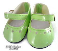 Light Green Patent Shoes for Bitty Baby + Twins Doll Clothes Moniques Brand