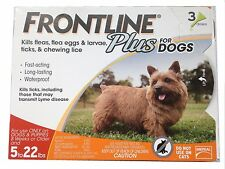 Frontline Plus for Small Dogs Flea and Tick 5-22 lbs. 3 Doses - EPA Approved