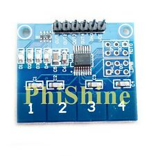 TTP224 Arduino Touch Switch 4 Channel Capacitive Touch Switch Panel