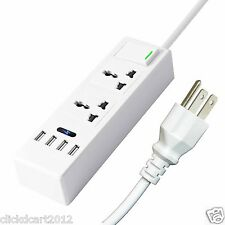 4 USB Port High Speed Power Adapter Charger With Surge Protector Power Socket