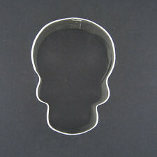 "SKULL 3"" COOKIE CUTTER FONDANT SCARY PIRATE THEME PARTY FAVORS NEW BONES"