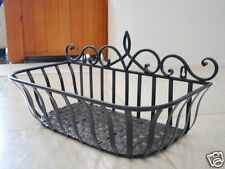 Wrought Iron French Style Wall Flower Pot Plant Holder Window Box S Size ONLY 02