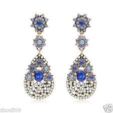New Woman Statement clear crystal Rhinestone long Ear Studs hoop earrings 1073