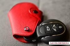 Red leather  keyfob  for 2014 model Mini Cooper S F56 F54 SD Keyless key fob
