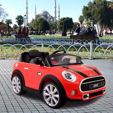 BMW MINI Hatch 12V MP3 RC Electric Kids Ride On Car Licensed Remote Control Red