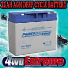 PDC12200B 21AH BATTERY AGM SLA 12 VOLT 12V DEEP CYCLE JET SKI GOLF CART