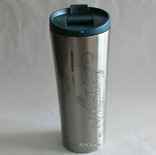 2015 Starbucks Hawaii Stainless Steel & Blue Lid WAVE 16 OZ. Insulated Tumbler