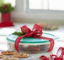 """Tupperware Pie Cookies Cupcake & Pizza Container 12"""" Large Round Mint Seal New"""