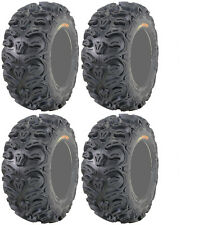 Four 4 Kenda Bearclaw HTR ATV Tires Set 2 Front 26x9-12 & 2 Rear 26x11-12 K587