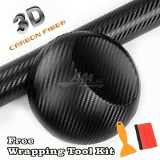 "24""x60"" 3D BLACK Carbon Fiber Texture Matte Vinyl Wrap Sticker Decal Film Sheet"