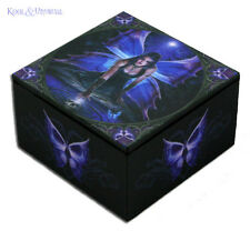 "Anne Stokes Trinket Jewellery Box with Mirror: ""Immortal Flight"" Gothic Fairy"