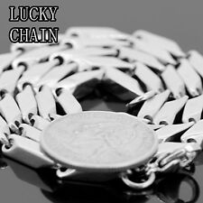 """24"""" STAINLESS STEEL SILVER BULLET CHAIN NECKLACE 5MM 50g C123"""