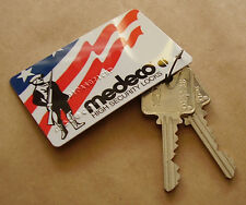 NEW! Medeco Patriot Factory-Cut Keys & Authorization Card, 2 Keys; 6, (Can pin)