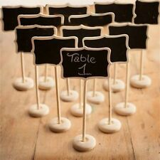 Pack of 10 Mini Rectangle Blackboard Vintage Chalkboard Stand CKB-1A