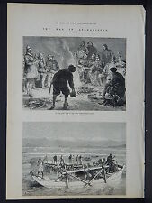 Illustrated London News Full Page B&W S6#42 Apr 1879 Campfire of 10th Hussars