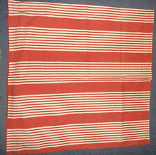 Large Red & White Striped Square Pillowcase Faded Effect