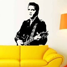 Elvis Presley Guitar Removable Vinyl Decal Art Mural Home Decor  Wall Sticker