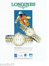 PUBLICITE ADVERTISING 056  1994  Longines montre Conquest VHP chrono officiel JO